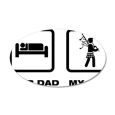 Bagpiper-ABL1 35x21 Oval Wall Decal