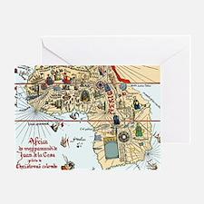 Africa, 16th century Spanish map Greeting Card