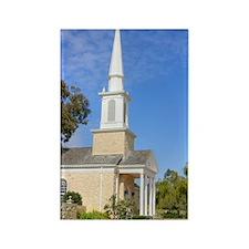 Scenic Church Rectangle Magnet