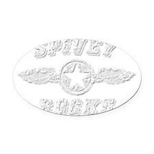 SPIVEY ROCKS Oval Car Magnet
