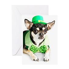 St. Patricks Day Chihuahua Greeting Card