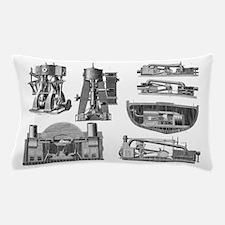 19th century marine steam engines Pillow Case