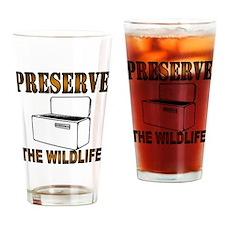 Preserve The Wildlife Drinking Glass