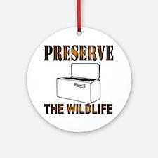 Preserve The Wildlife Round Ornament