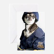 Cute Police Dog Greeting Card