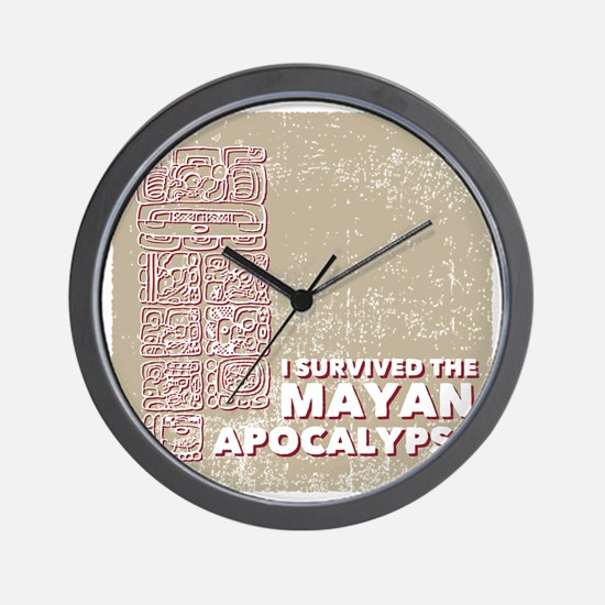 I Survived the Mayan Apocalypse Wall Clock