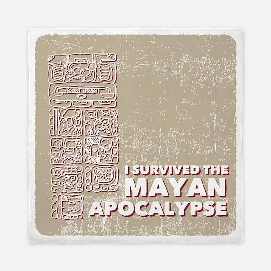 I Survived the Mayan Apocalypse Queen Duvet