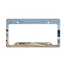 Huntington Beach Pier Landsca License Plate Holder