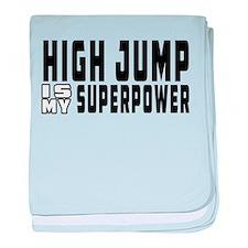 High Jump Is My Superpower baby blanket