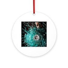 Bulletproof glass Round Ornament