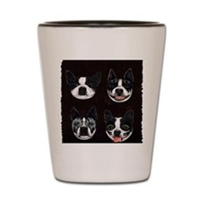 Boston Terriers as KISS Slobbery Shot Glass