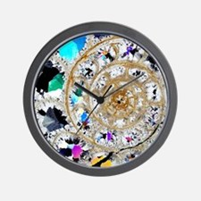 Ammonite fossil, thin section Wall Clock
