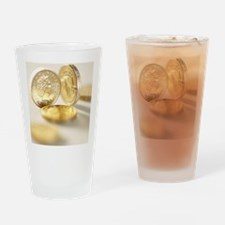 British one pound coins Drinking Glass