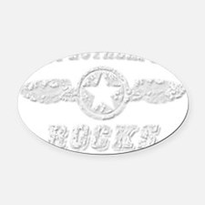 EAST RUTHERFORD ROCKS Oval Car Magnet