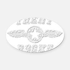 TRENT ROCKS Oval Car Magnet