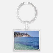 Avalon Harbor Catalina Island Landscape Keychain