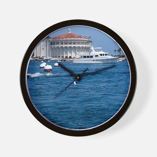 Avalon Harbor Catalina Island Wall Clock