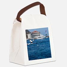 Avalon Harbor Catalina Island Canvas Lunch Bag