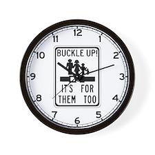 Buckle Up! Wall Clock