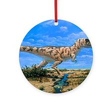 Artwork of a Tyrannosaurus rex dino Round Ornament