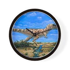 Artwork of a Tyrannosaurus rex dinosaur Wall Clock