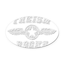 THEISM ROCKS Oval Car Magnet