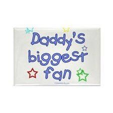 Daddy's Biggest Fan Rectangle Magnet