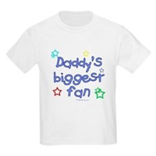 Daddy's Biggest Fan Kids T-Shirt