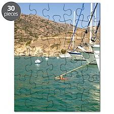 Sailboats at Catalina Harbor Puzzle