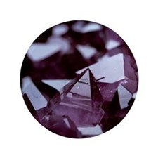 "Amethyst crystals 3.5"" Button"