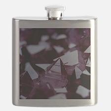 Amethyst crystals Flask