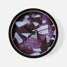 Amethyst crystals Wall Clock