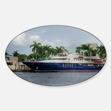 Mega Yacht Sticker (Oval)