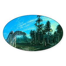 Artwork of a Maiasaura dinosaur Decal