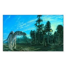Artwork of a Maiasaura dinosau Decal