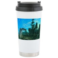 Artwork of a Maiasaura  Stainless Steel Travel Mug