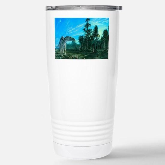 Artwork of a Maiasaura  Stainless Steel Travel Mug