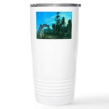Artwork of a Maiasaura  Travel Mug