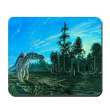 Artwork of a Maiasaura dinosaur Mousepad