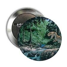 """Artwork of a Tyrannosaurus rex dinosa 2.25"""" Button"""