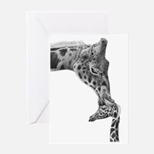 Giraffe and Calf 5x7 Rug Greeting Card