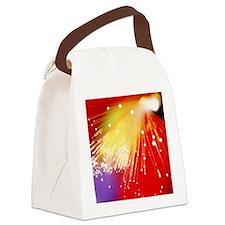 Bundle of optical fibres conducti Canvas Lunch Bag