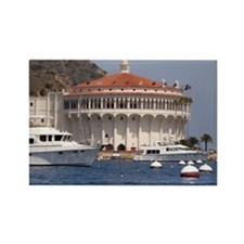 Avalon Harbor Catalina Island Rectangle Magnet