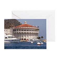 Avalon Harbor Catalina Island Greeting Card
