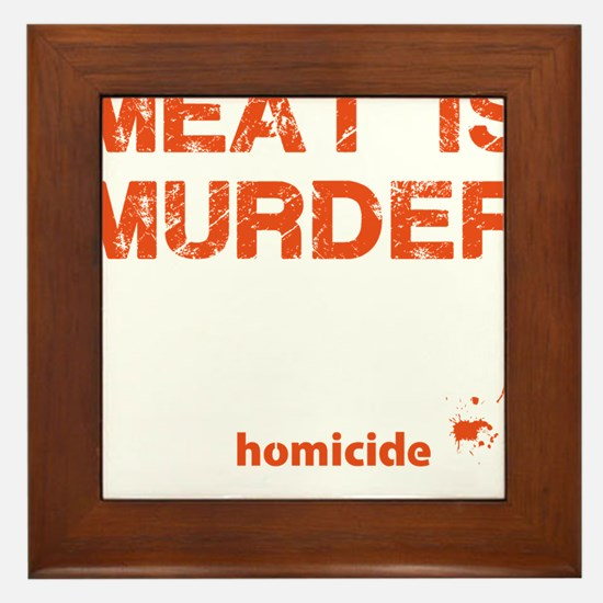 Meat is murder Framed Tile