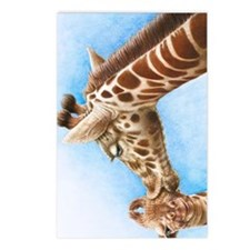 Giraffe and Calf Galaxy 2 Postcards (Package of 8)