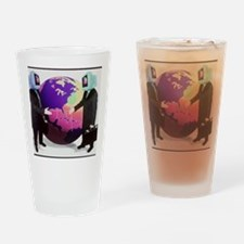 Businessmen with computer heads Drinking Glass