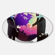 Businessmen with computer heads Decal