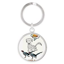 WHAT'S FOR DINNER? Round Keychain
