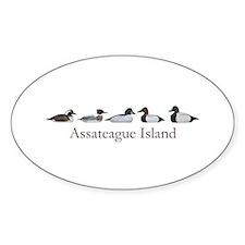 Assateague Island Decoys Oval Decal